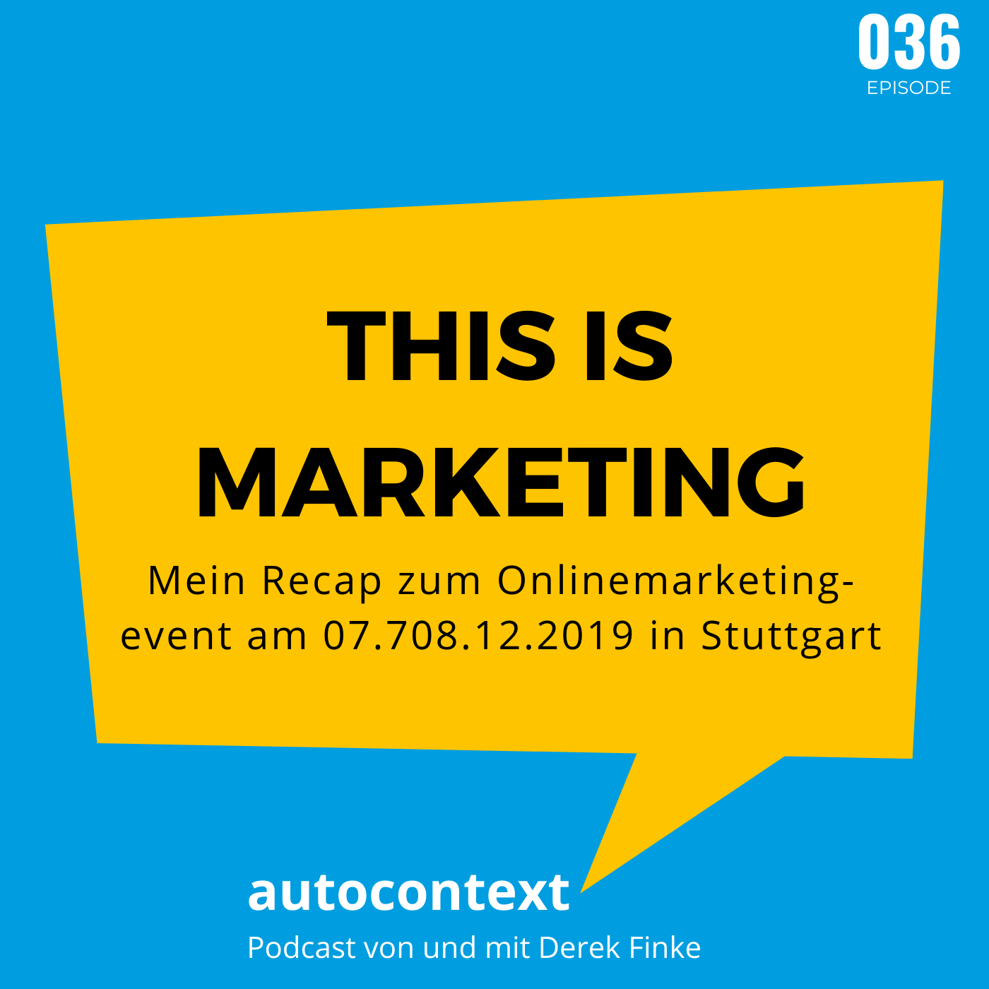 This is marketing - Mein Recap