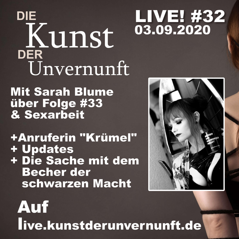 Unvernunft Live. 03.09. - Sexarbeiteranfangsbecher