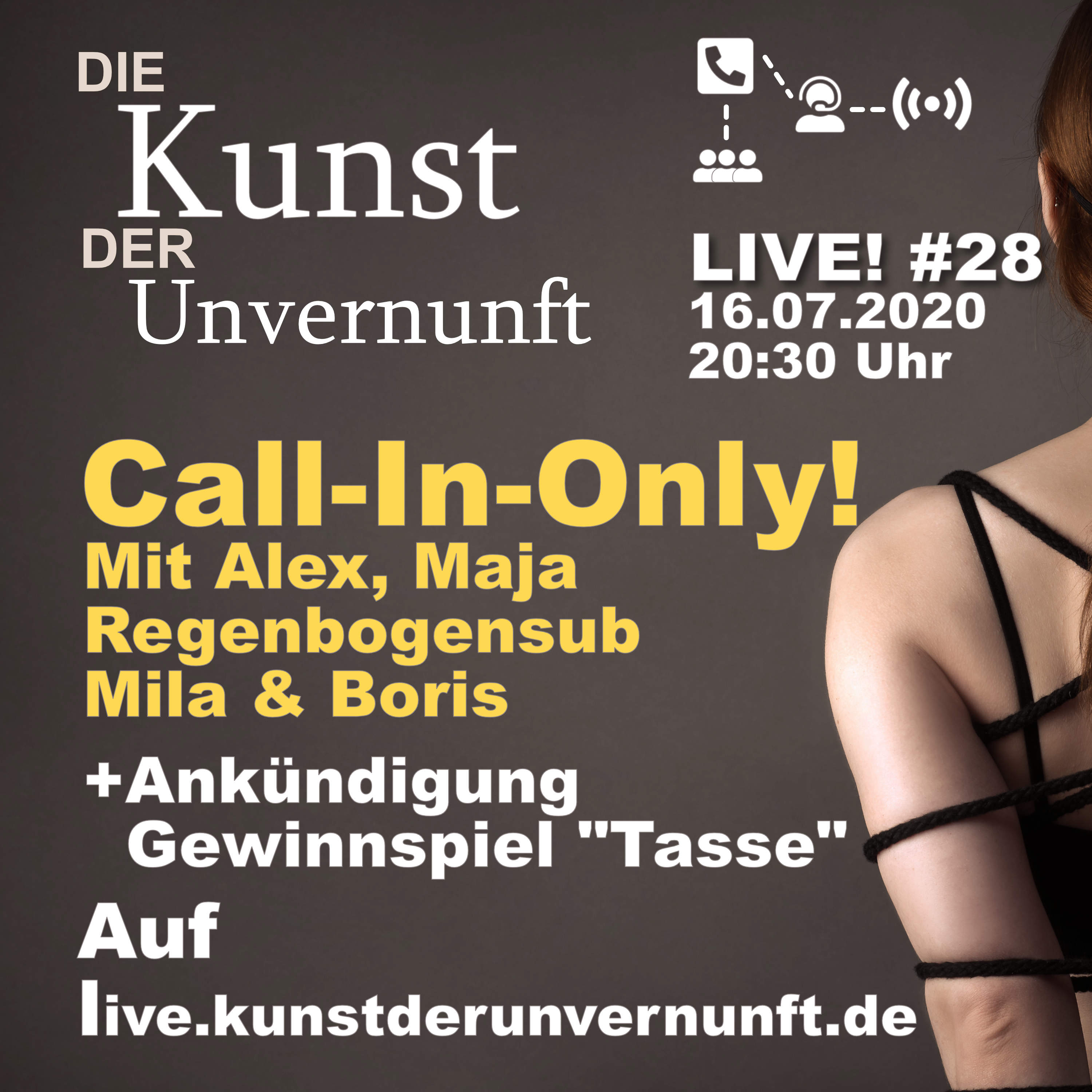 Unvernunft LIVE v. 16.07. - Massive Call-In-Only