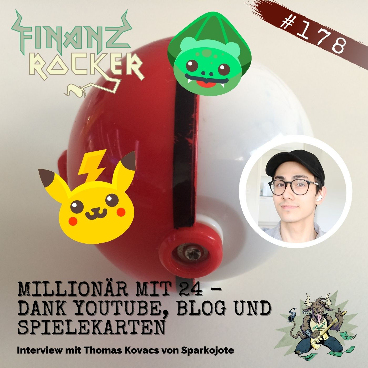 "Folge 178: ""Millionär mit 24 - Dank YouTube, Blog & Spielekarten"" - Interview mit Sparkojote Thomas Kovacs"