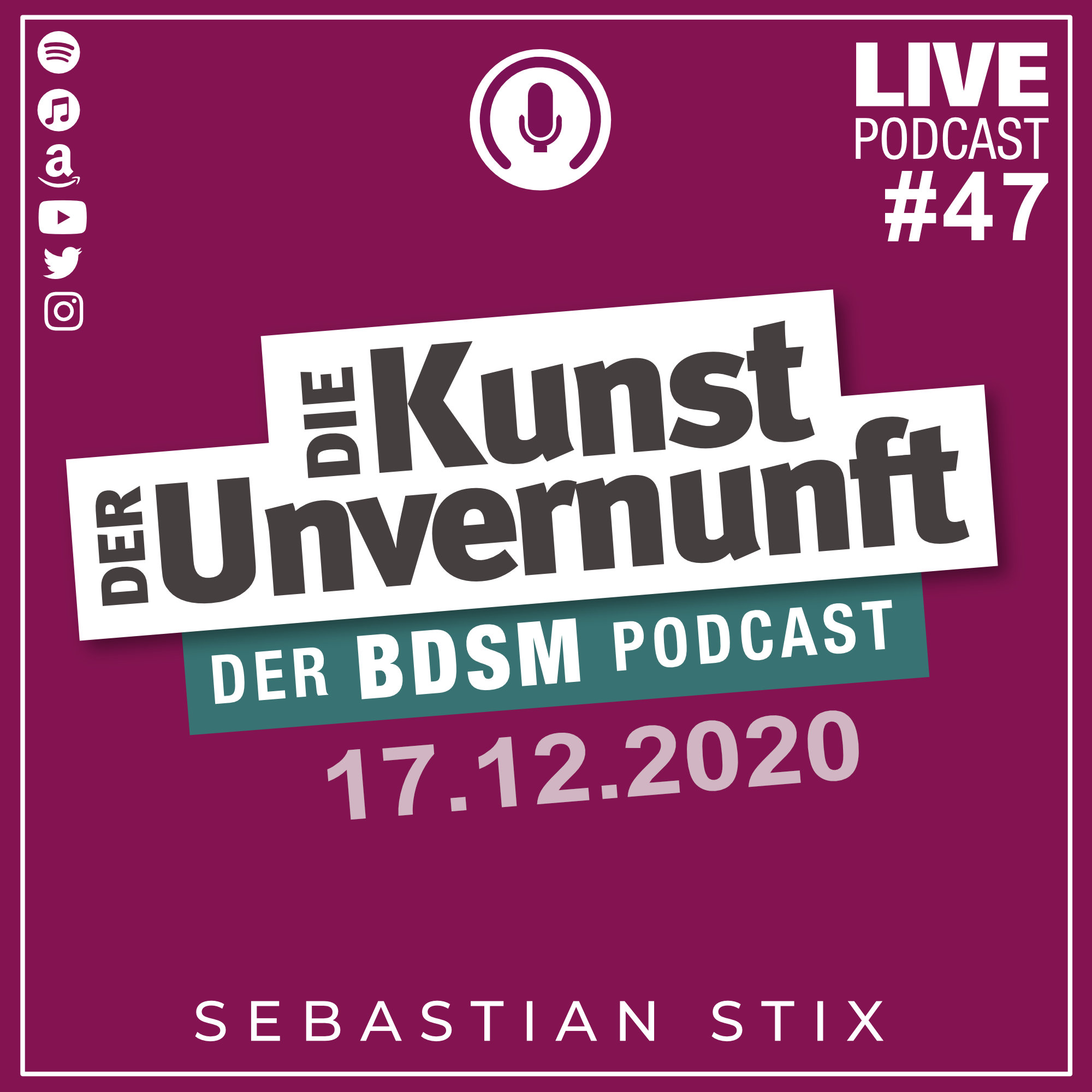 Unvernunft Live 17.12.2020 - Gay-BDSM & Jahresendrituale