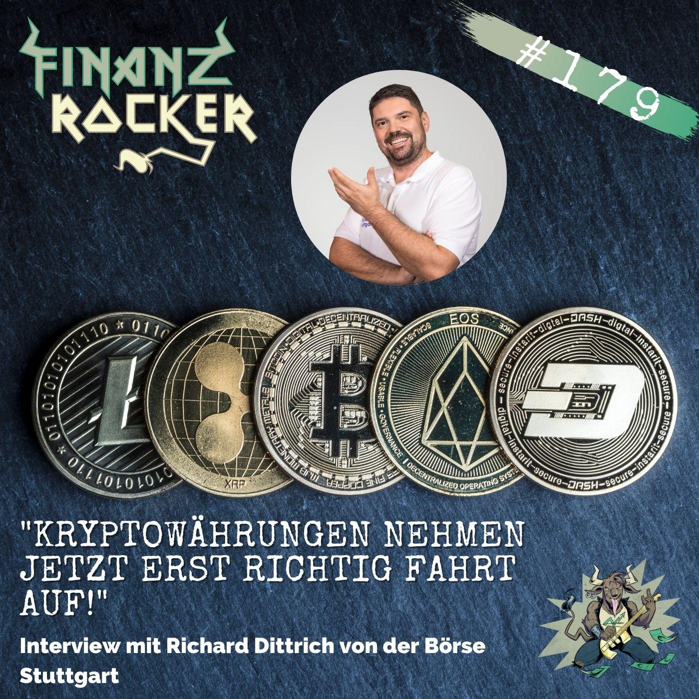 """Folge 179: """"Kryptowährungen nehmen jetzt erst richtig Fahrt auf!"""" - Interview mit Richard Dittrich (Börse Stuttgart)"""