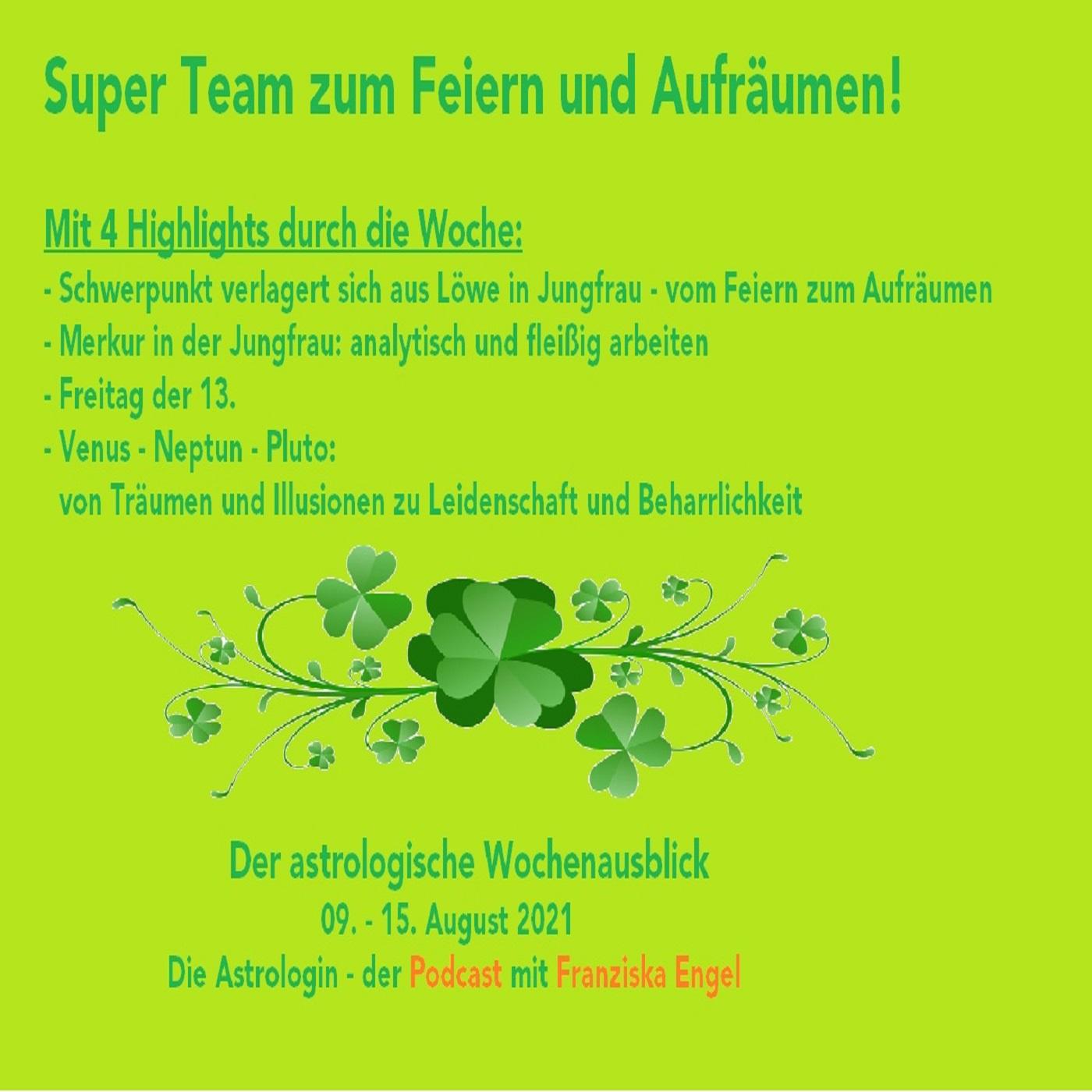 Super Team zum Feiern und Aufräumen!